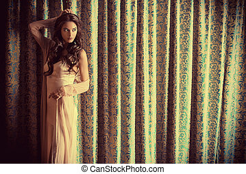 charming model - Attractive brunette woman in gorgeous...