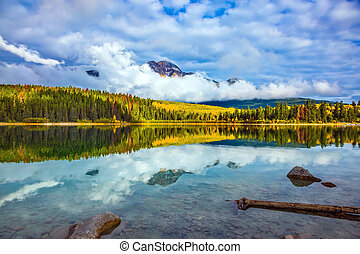 Patricia Lake amongst the evergreen forests - Charming ...