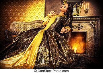 charming royal - Renaissance Style - beautiful young woman ...