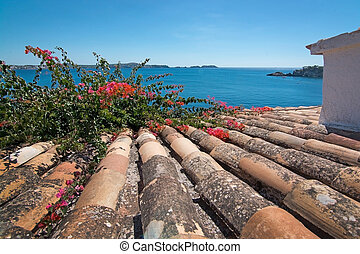 Charming shabby Mallorca roof tiles