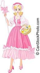 Charming Shepherdess - Illustration of Charming Shepherdess...