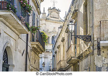 Charming street of historic Lecce, Puglia, Itly - Charming ...