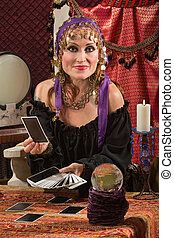 Charming Tarot Card Lady