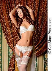 charming woman - Attractive young woman alluring in sexual...