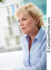 Charming woman - Portrait of calm aged woman