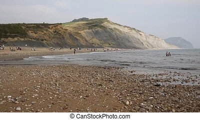 Charmouth beach and coast Dorset uk - Charmouth beach Dorset...