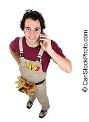 charpentier, appeler, client