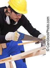 charpentier, scier