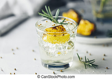 Charred Lemon, Rosemary and Coriander Gin and Tonic is a ...