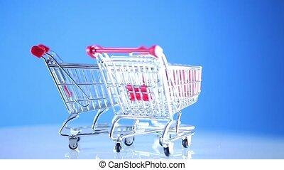 charrette, achats, supermarché