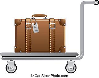 charrette, bagage