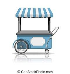 charrette crème glace