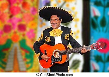 charro, mariachi gitara, serape, poncho, interpretacja