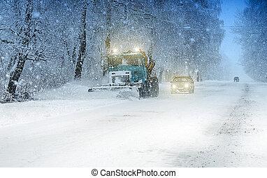 charrue, neige
