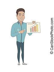 chart., ヒスパニック, 提示, 財政, ビジネスマン