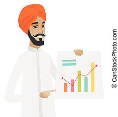 chart., ヒンズー教信徒, 提示, 財政, ビジネスマン
