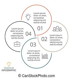 chart., 4 , μικροβιοφορέας , δικαίωμα εκλογής , ελάχιστος , γραφική παράσταση , κάνω ποδήλατο , γραμμικός , γενική ιδέα , επιχείρηση , infographic, διάγραμμα , διαμέρισμα , βέλος , processes., κύκλοs , βήματα , παρουσίαση , κομμάτια