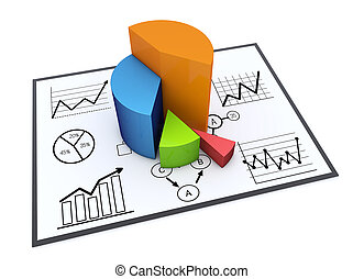 Chart and graphs - Financial and business chart and graphs