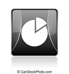 chart black square web glossy icon