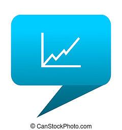 chart blue bubble icon