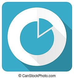 chart blue flat icon