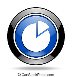 chart blue glossy icon