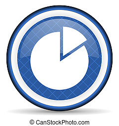 chart blue icon