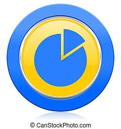 chart blue yellow icon