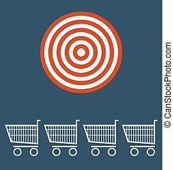 chart., concept., 買い物, ターゲット