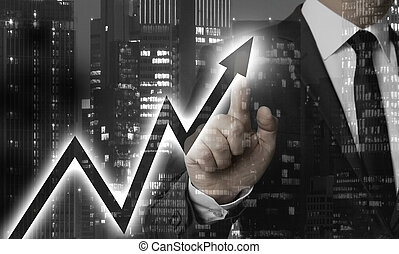 Chart concept is shown by businessman