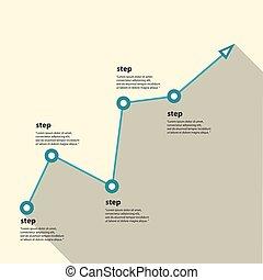 chart., grafico, vettore, affari illustrazione