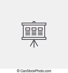 chart graph icon of grey outline for illustration