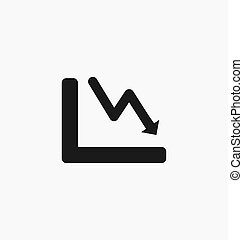 Chart icon bar symbol for web site design, logo, app, UI. Vector
