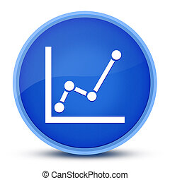 Chart icon isolated on special blue round button abstract