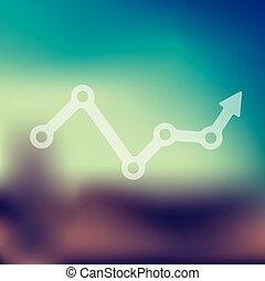 chart icon on blurred background