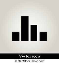 Chart Icon on grey background