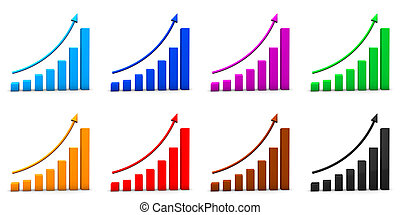 Arrow Business Chart Graph Report Stock Market Icon