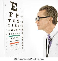 chart., lettura, guardi dottore