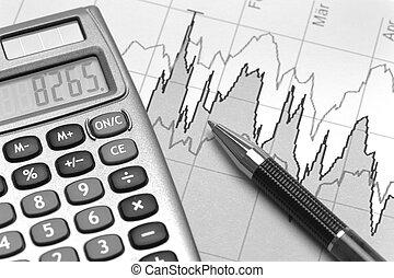 chart of financial budget calculat