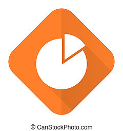 chart orange flat icon