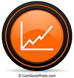 chart orange icon stock sign