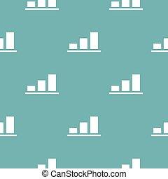 Chart pattern seamless blue