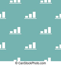 Chart pattern seamless blue