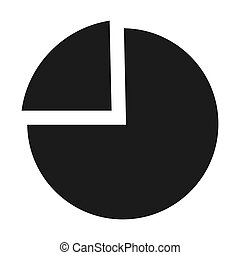 Chart pie icon, simple style