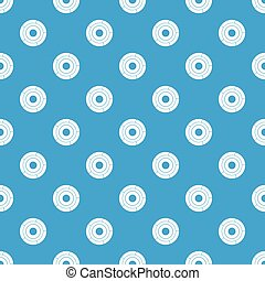 Chart pie with arrows pattern seamless blue