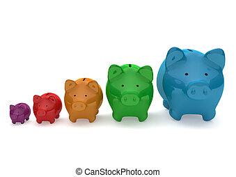 Chart Piggy Banks