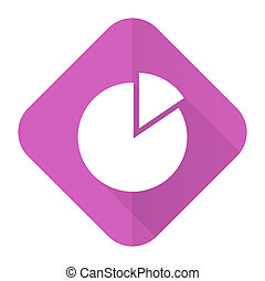 chart pink flat icon