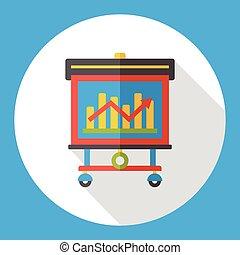chart presentation flat icon