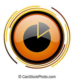 chart round design orange glossy web icon