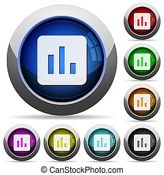Chart round glossy buttons